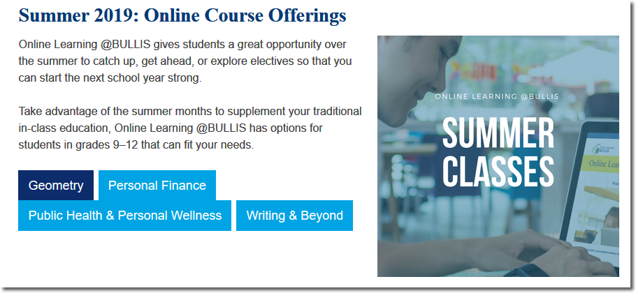 Summer 2019 Online Course Offerings