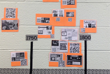 buncee timeline project in us history