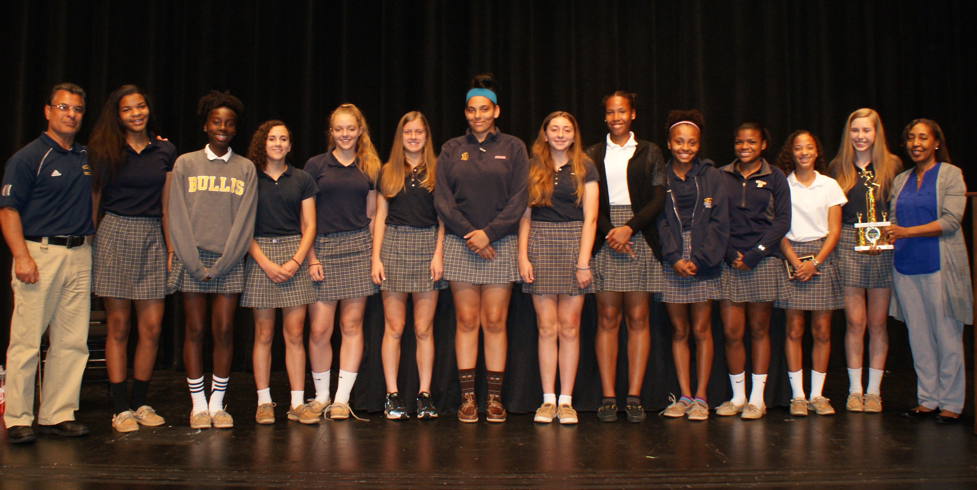 ms students celebrated at spring sports assembly